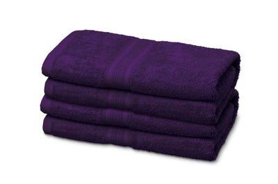 12 Badstof gastendoekje purple, ca. 30 x 50 cm