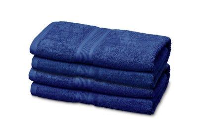 12 Badstof gastendoekje royal blue, ca. 30 x 50 cm