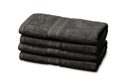 Gästehandtücher aus Flausch-Frottee in Dark Grey