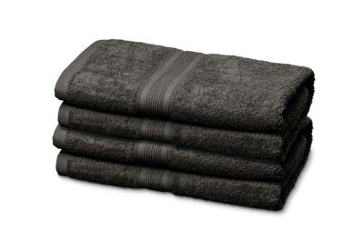 Handtücher aus Flausch-Frottee in Dark Grey