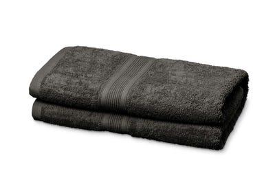 2 Badstof badhanddoeken grey, ca. 70 x 140 cm