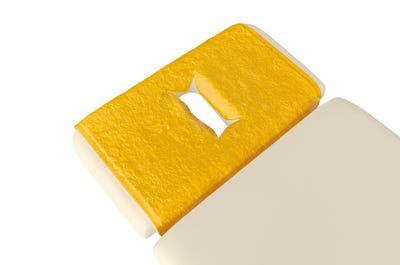 PINOTEX badstof hoofdsteundoeken met neusuitsparing safran