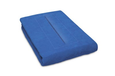 Stretch hoeslaken 80 cm breed met neusgat, blue