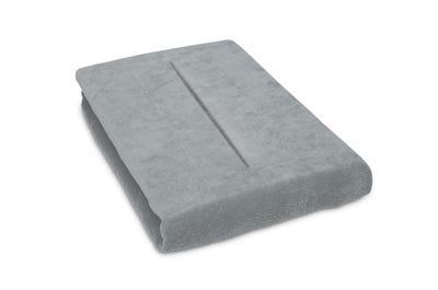 Stretch hoeslaken 80 cm breed met neusgat, light grey