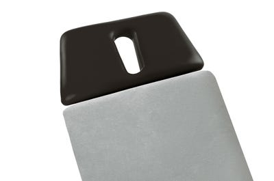 Stretch hoeslaken 65 cm breed zonder hoofdsteun, light grey