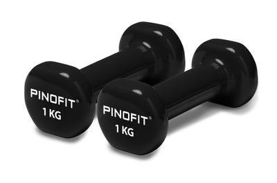 PINOFIT Kurzhanteln 1 kg mit PVC Ummantelung