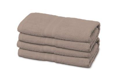 4 Badstof handdoeken sand, ca. 50 x 100 cm