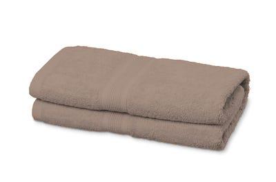 2 Badstof saunahanddoeken sand, ca. 80 x 200 cm