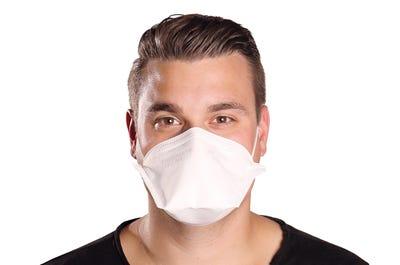 Atemschutzmaske FFP2 für eine große Bandbreite von Gesichtsformen und Kopfgrößen