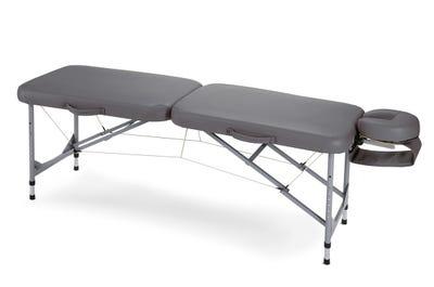 Koffer Massagebank Aluminium, dark grey