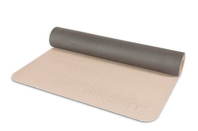 PINOFIT® Yoga Mat warm grey/ dark grey