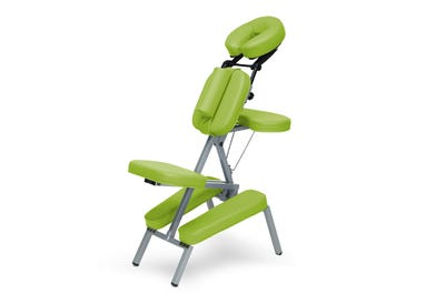 Massagestoel aluminium lime