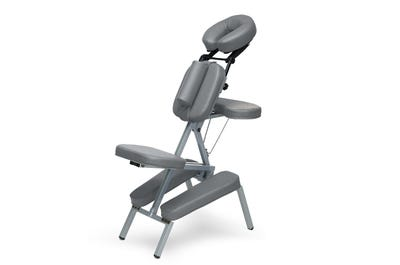 Massagestoel aluminium dark grey