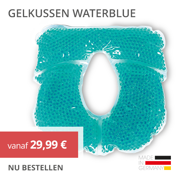 PINO Gelkussen parels waterblue