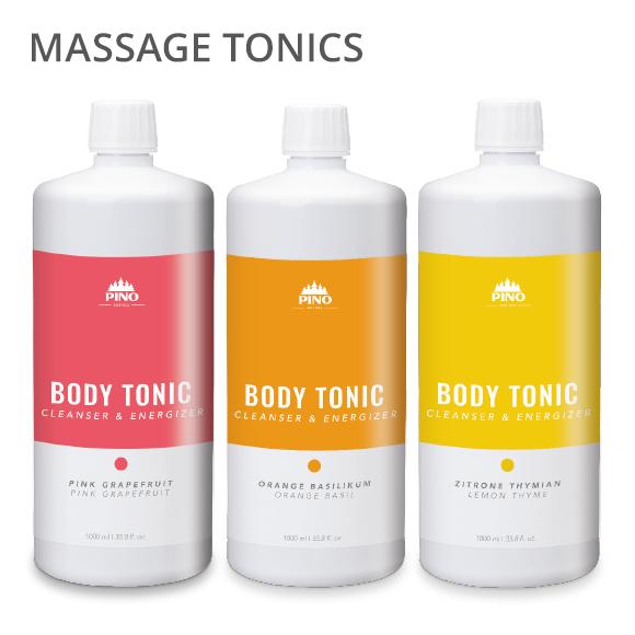Massage tonics